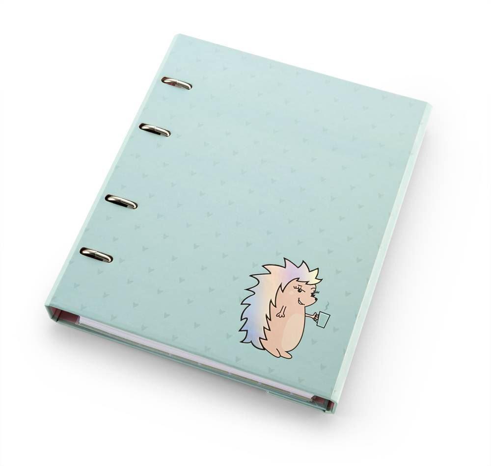 Caderno fichário riccio ultra verde