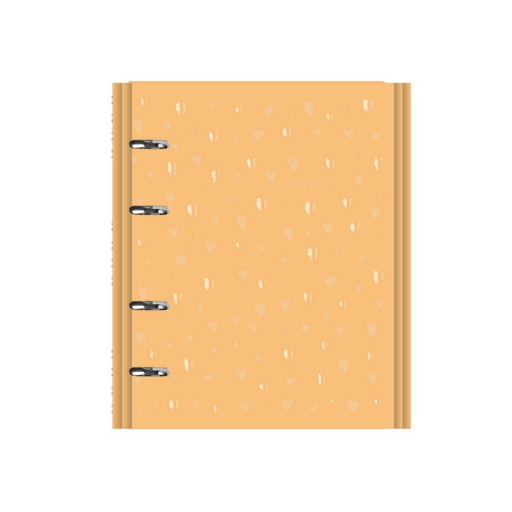 Caderno fichário romantic amarelo
