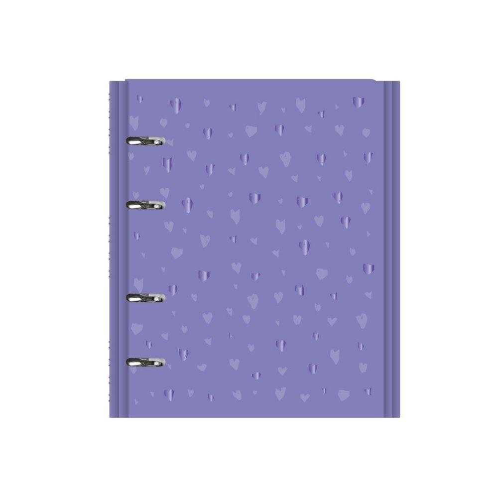 Caderno fichário romantic lilás