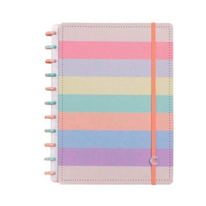 Caderno Inteligente arco-íris pastel grande