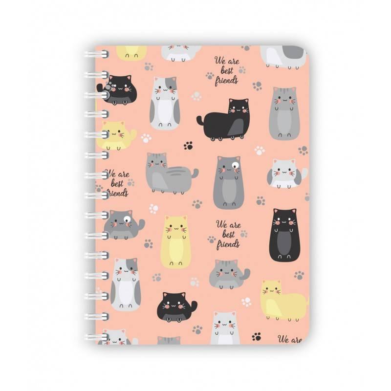 Caderno médio gato