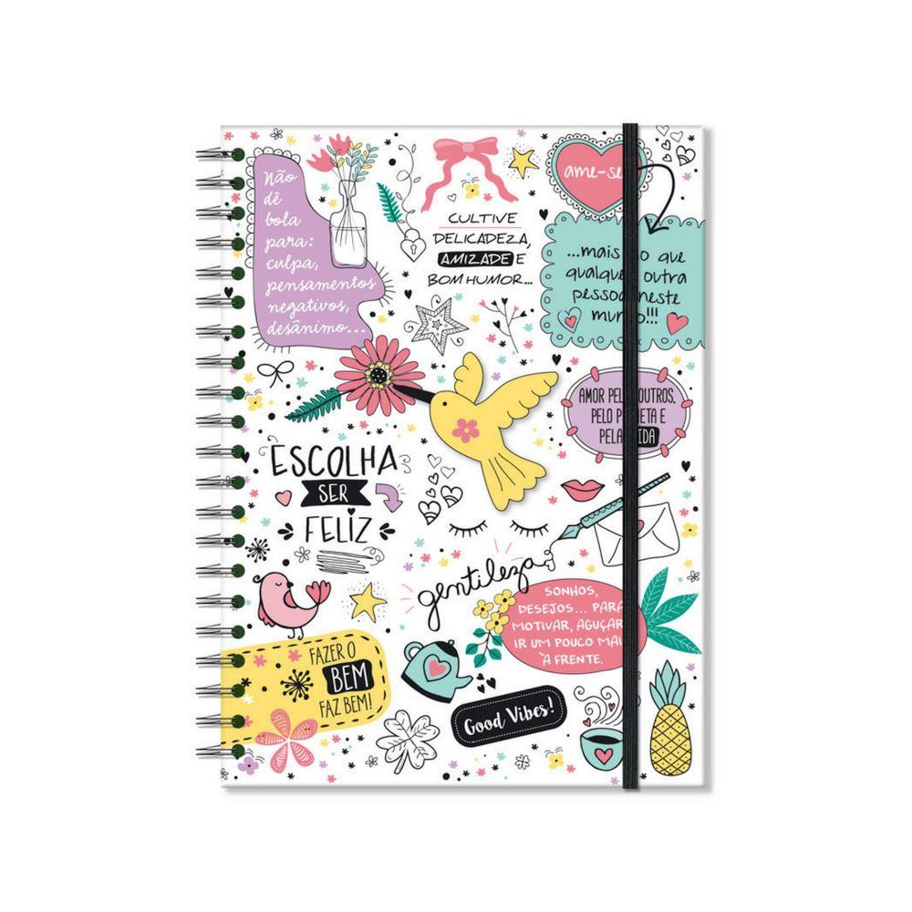 Caderno universitário beija-flor