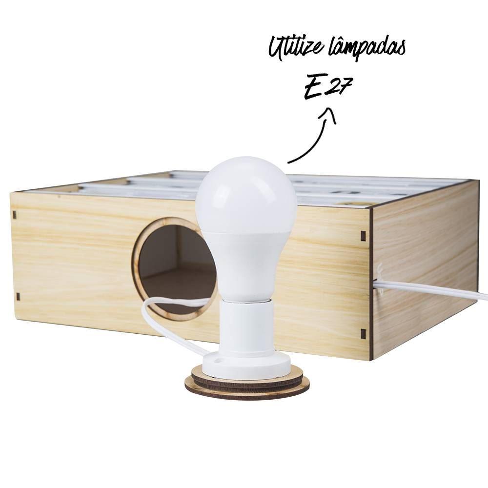 Caixa de luz letreiro madeira