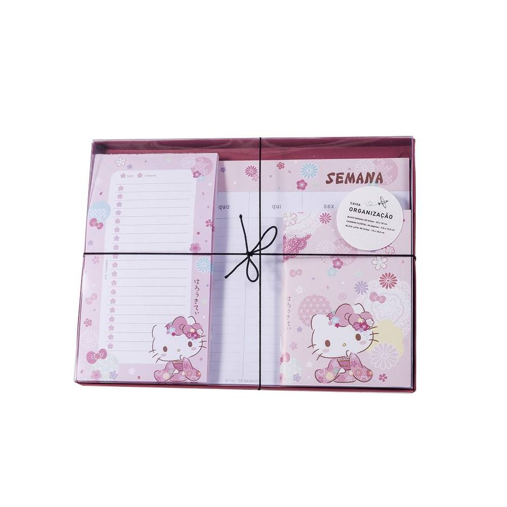 Caixa organização hello kitty sakura