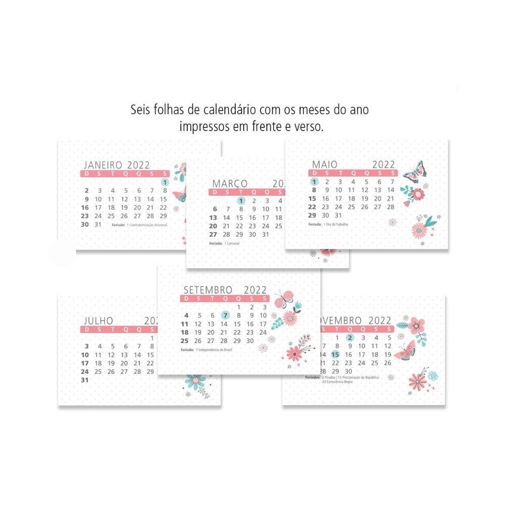 Calendário de mesa Borboletas - 2022