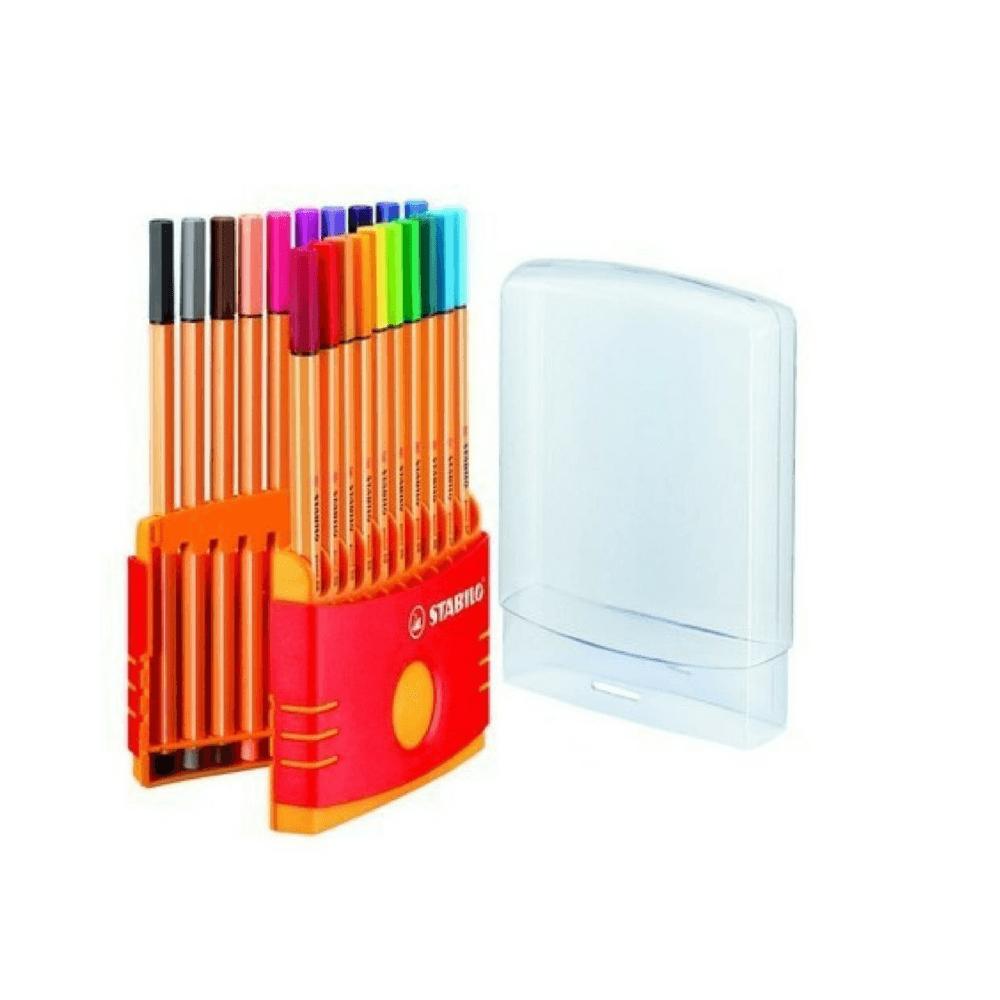 Caneta stabilo point 88 color parade - estojo c/ 20 und