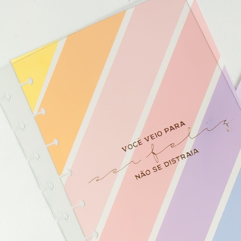 Capa e contracapa + elástico (A5) - Rainbow