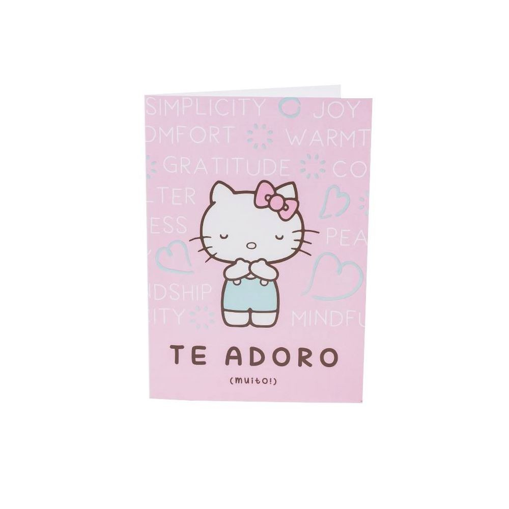 Cartão hello kitty te adoro