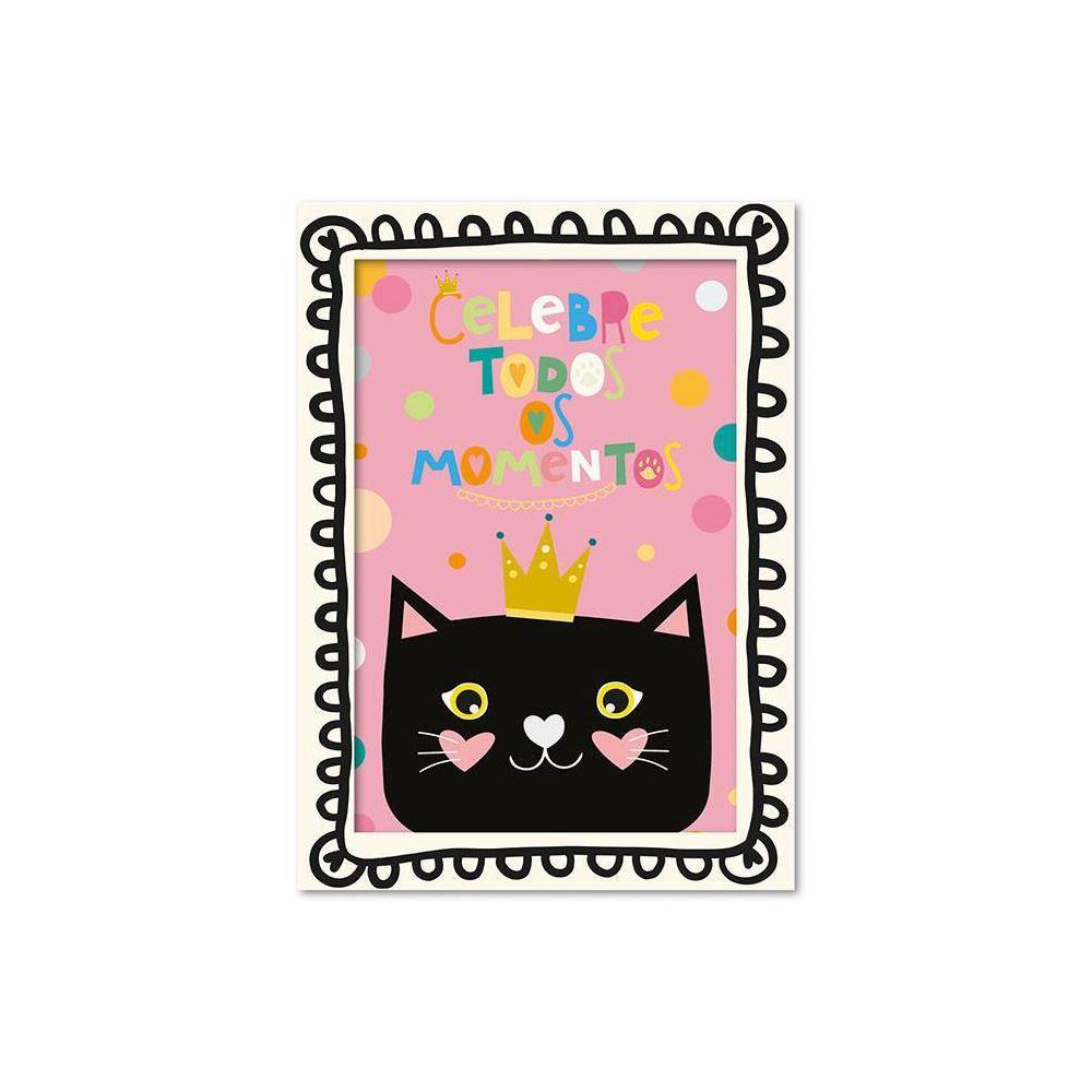 Cartão ilustrado gato
