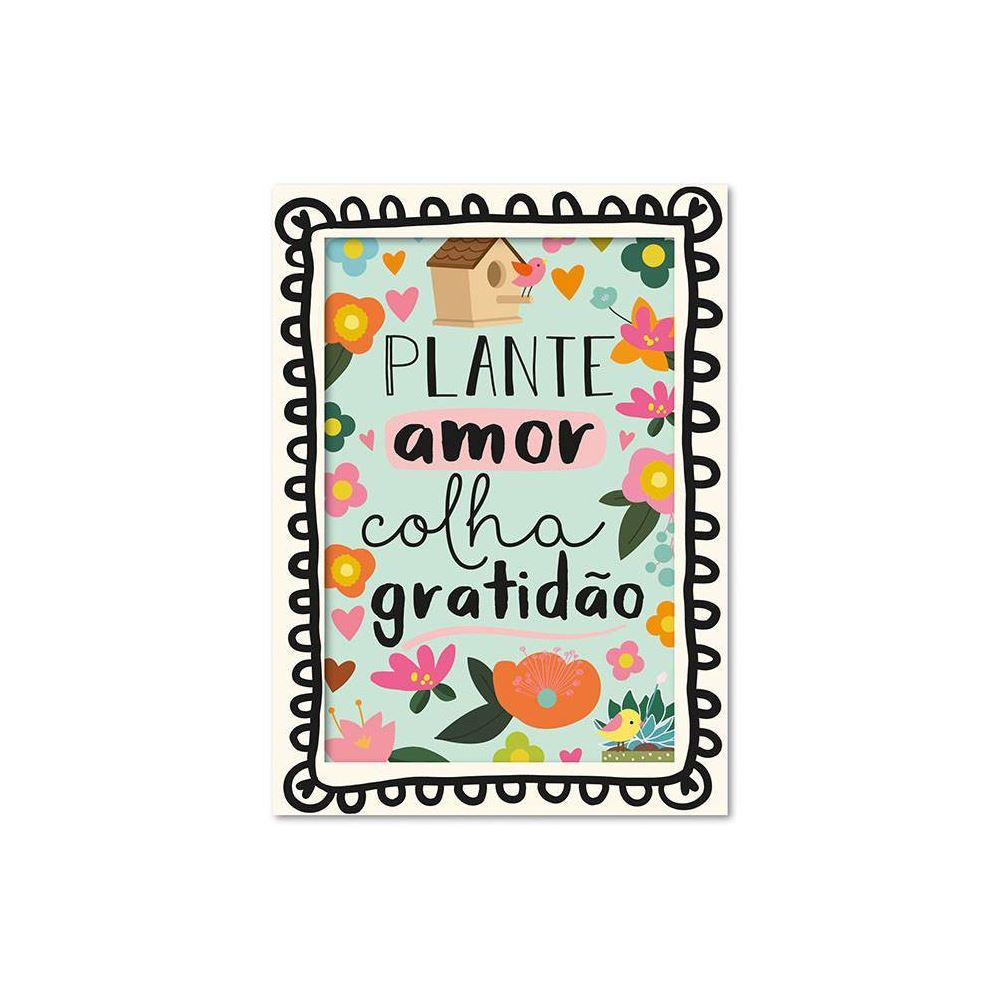 Cartão ilustrado jardim