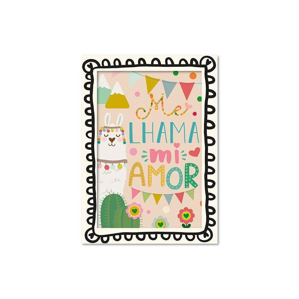 Cartão ilustrado lhama
