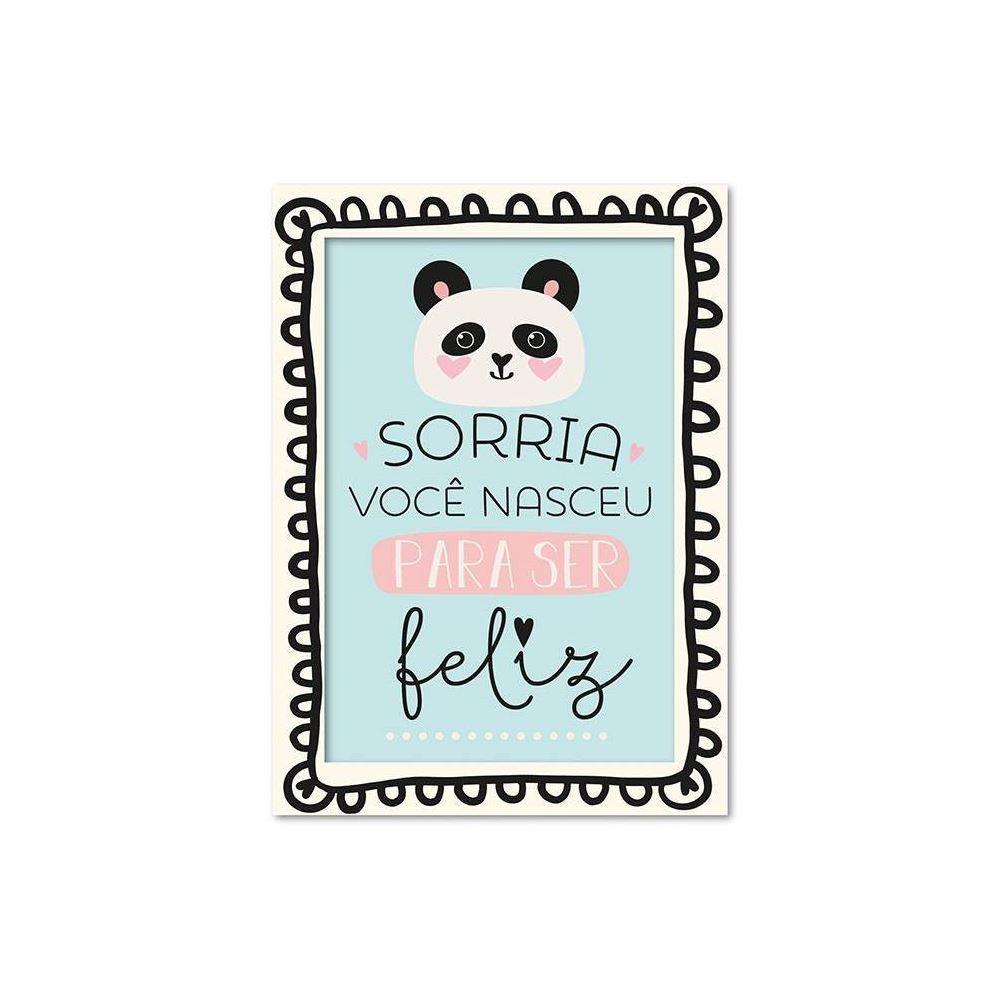 Cartão ilustrado panda