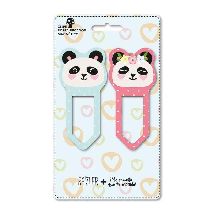 Clipe porta - recados magnético panda