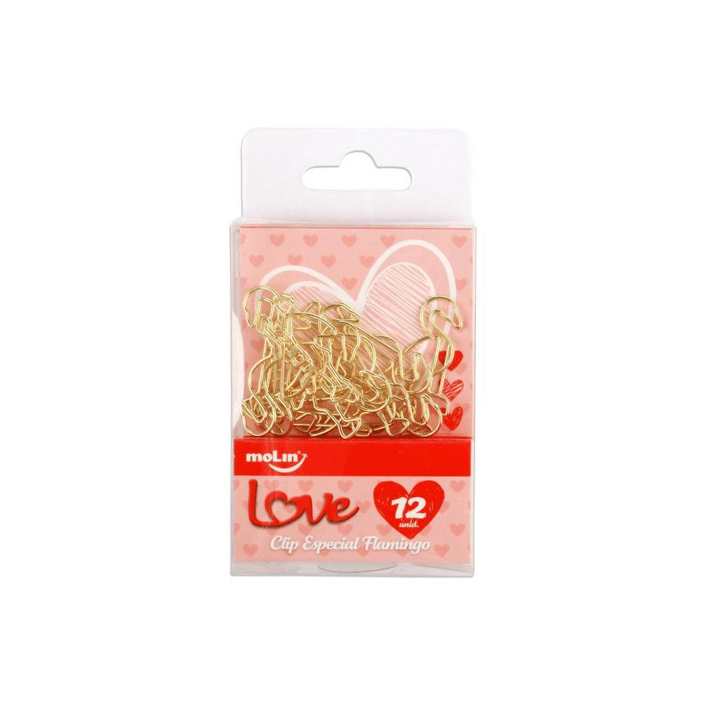 Clips love flamingo