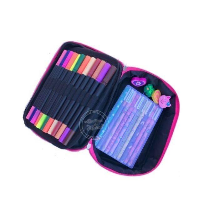 Estojo 100 pens colores
