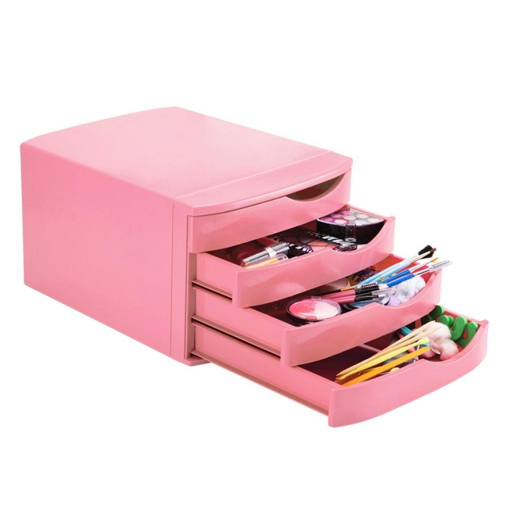 Gaveteiro rosa pastel com 4 gavetas