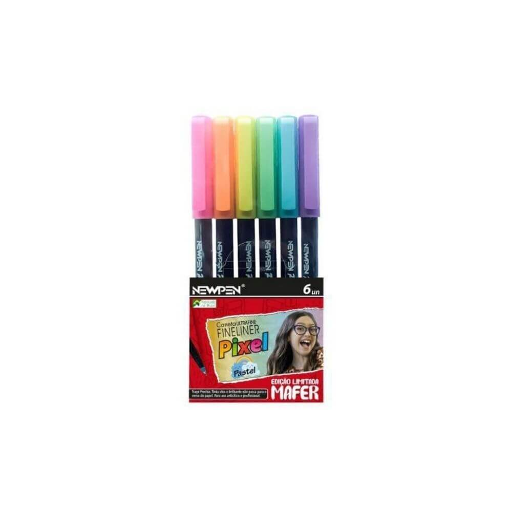 Kit caneta fineliner pixel newpen - mafer