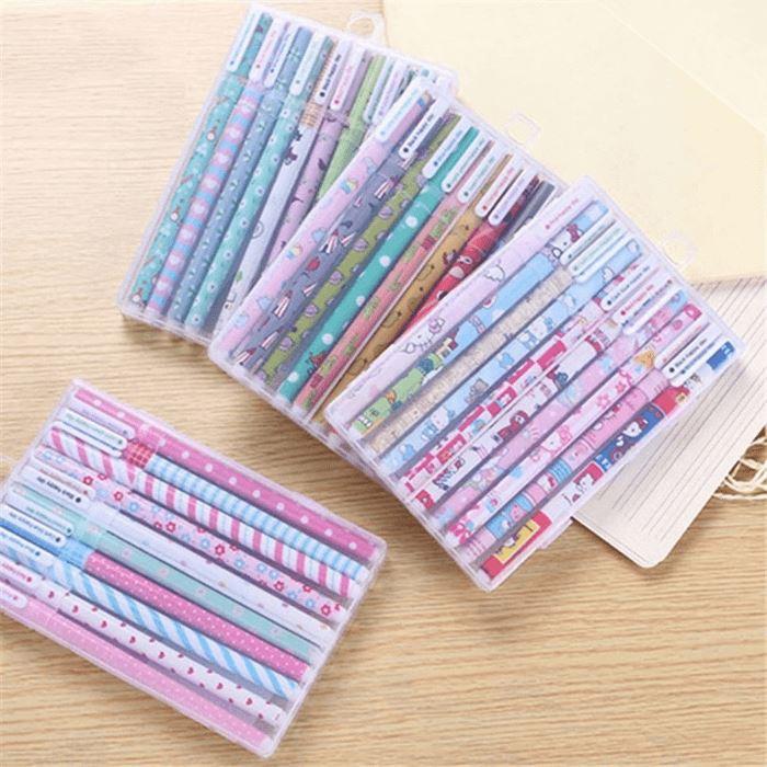 Kit de canetas gel coloridas