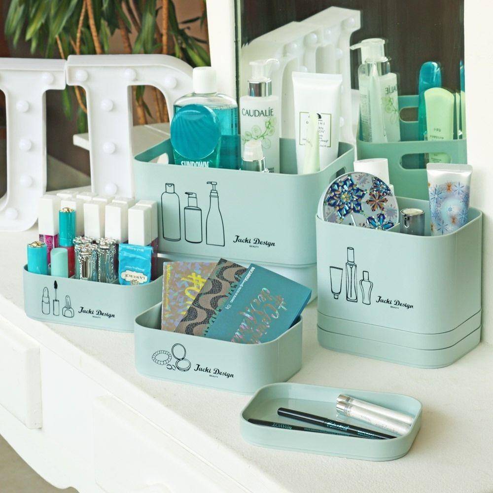 Kit Organizador Beauty com 4 Peças - Azul
