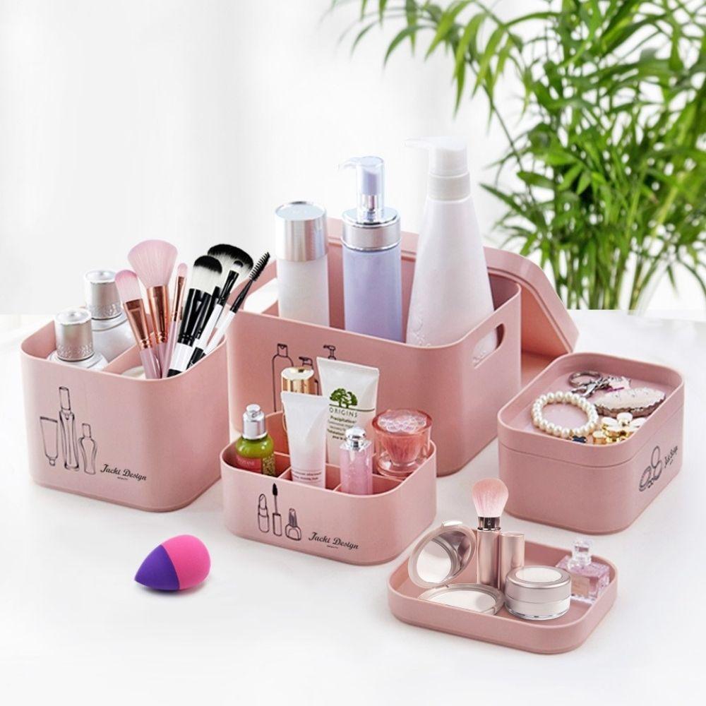 Kit Organizador Beauty com 4 Peças - Rosa