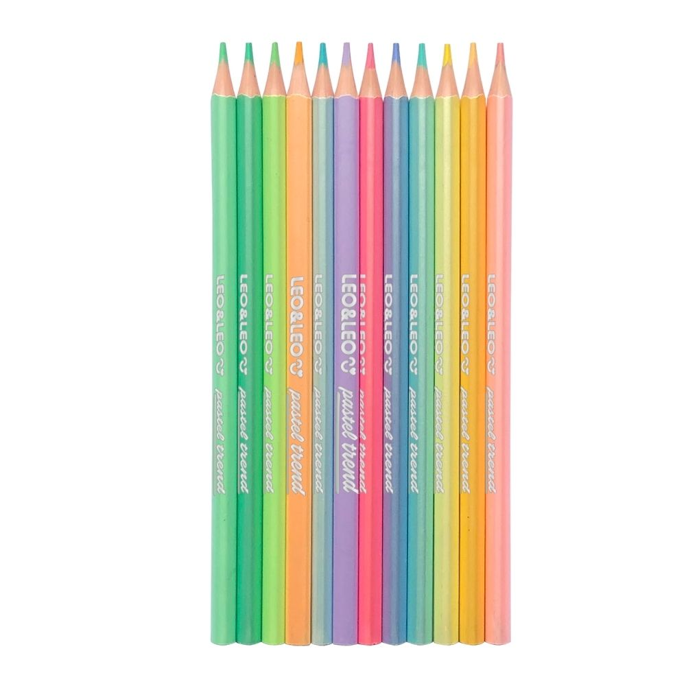 Lápis de cor 12 cores pastel