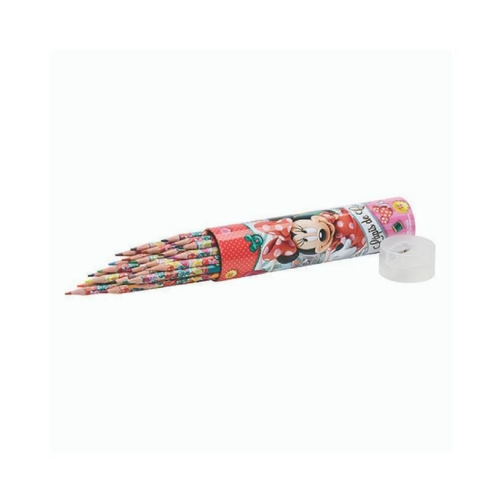 Lápis de cor minnie - lata