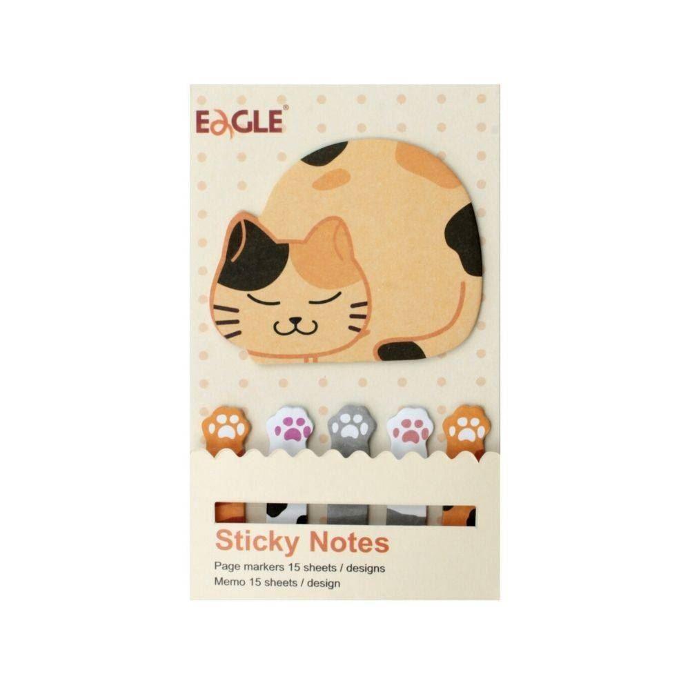 Marcador de página sticky notes gatinho