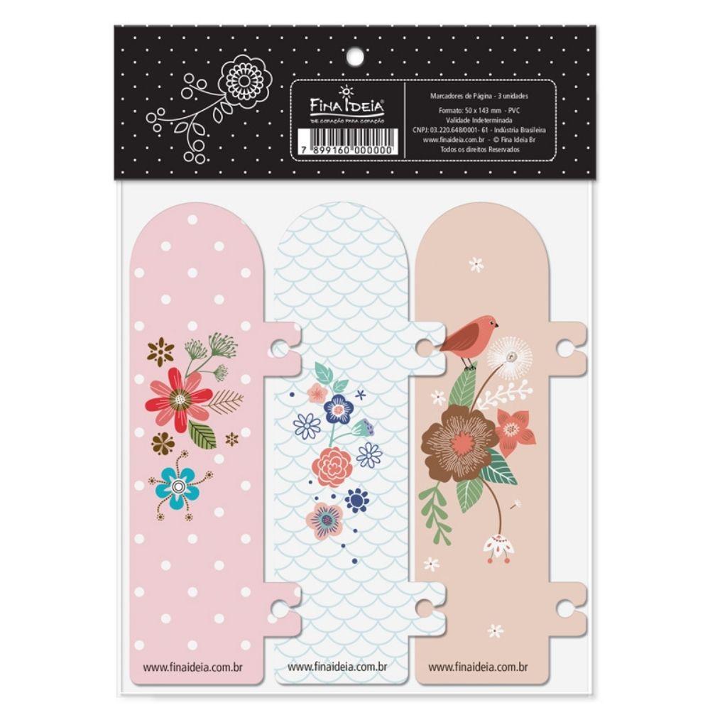 Marcador de páginas - Jardim, sereias, bicho-preguiça