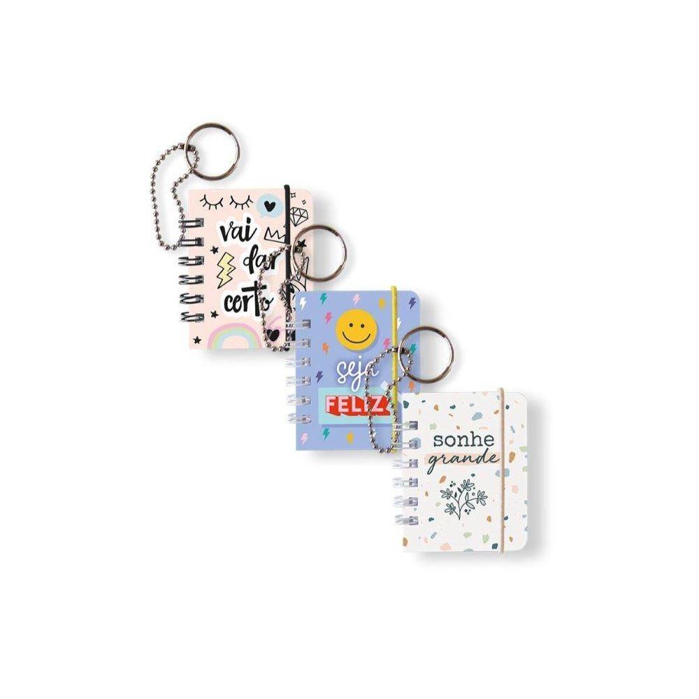 Mini caderno notes chaveiro