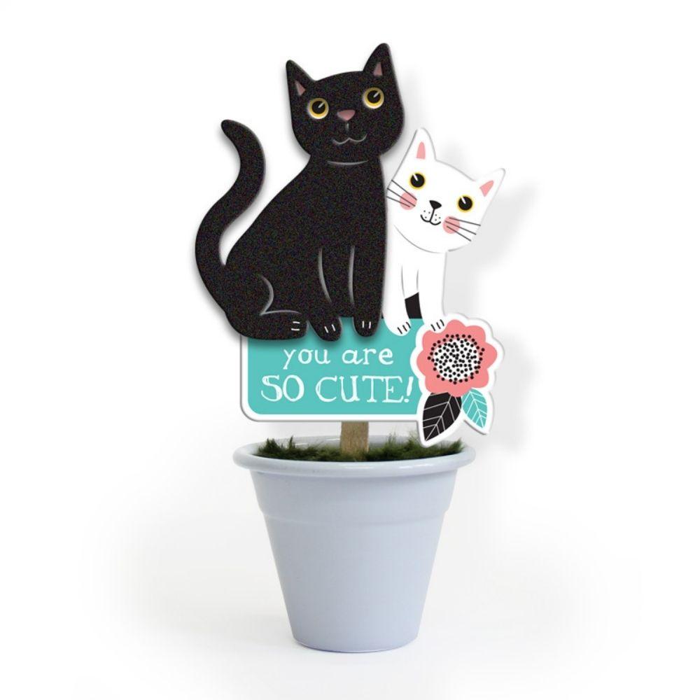 Mini vaso Gatos
