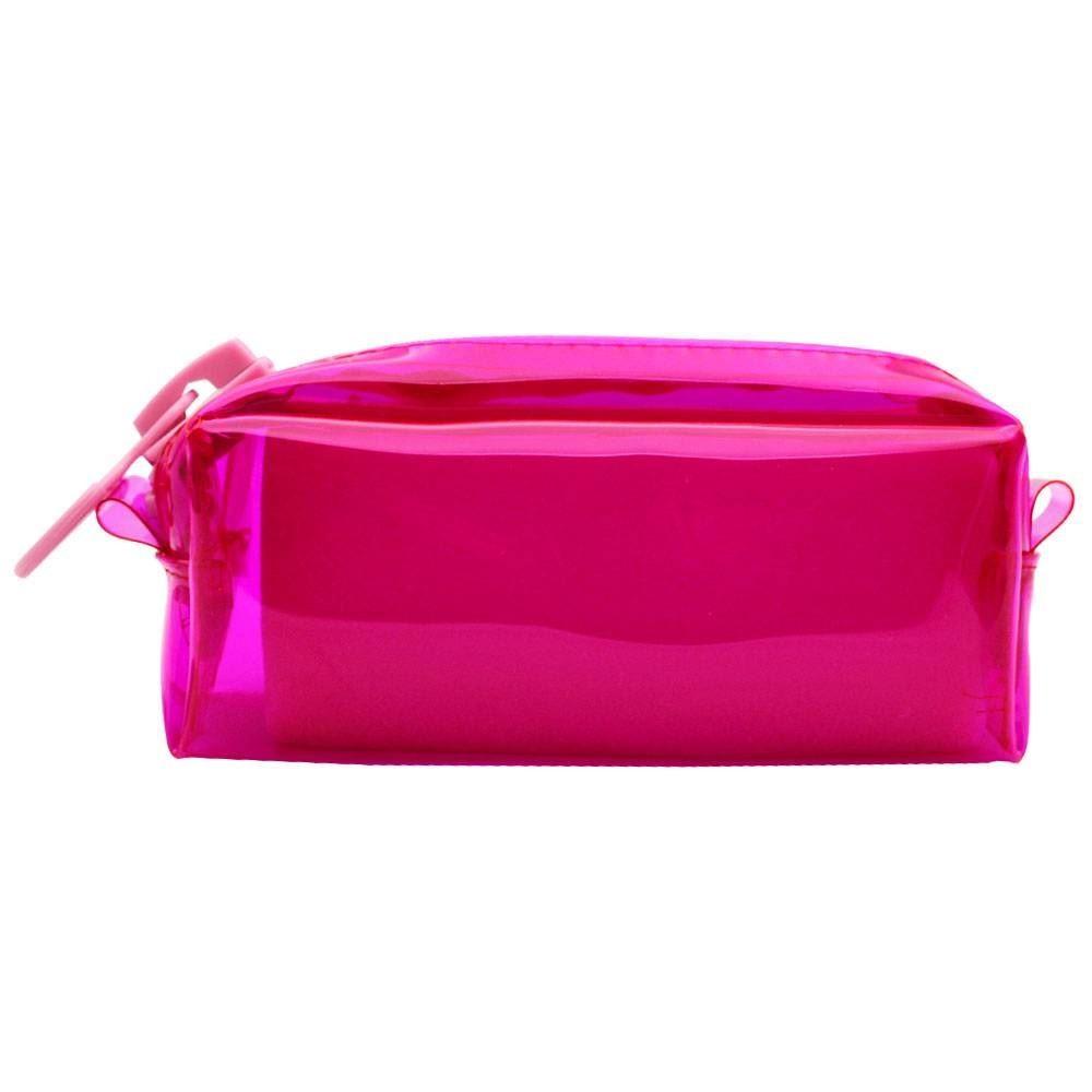 Necessaire college mega zíper - rosa fluor