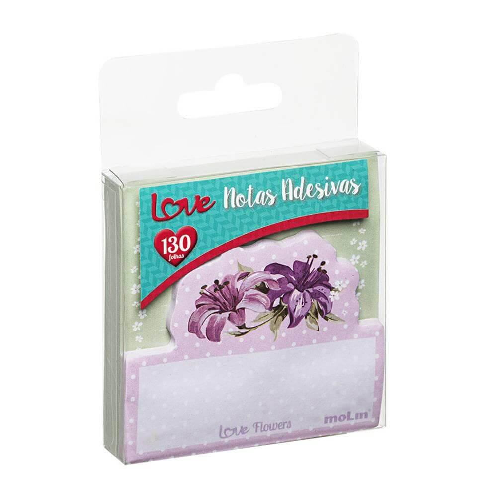 Notas adesivas love flowers