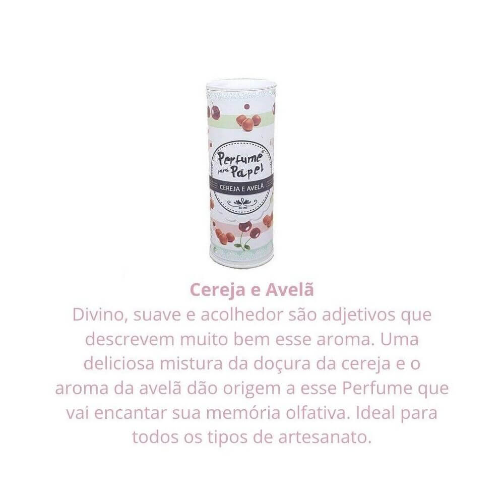 Perfume para papel - aroma cereja e avelã - 30 ml