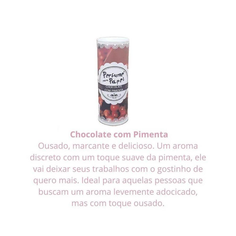 Perfume para papel - aroma chocolate com pimenta - 30 ml