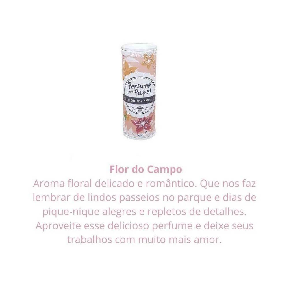 Perfume para papel - aroma flor do campo - 30 ml