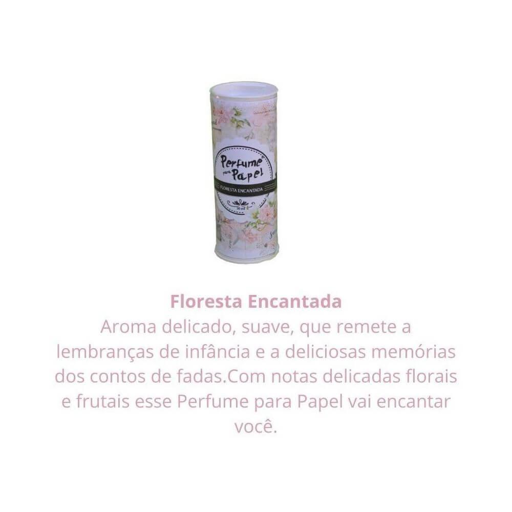 Perfume para papel - aroma floresta encantada - 30 ml ed. especial