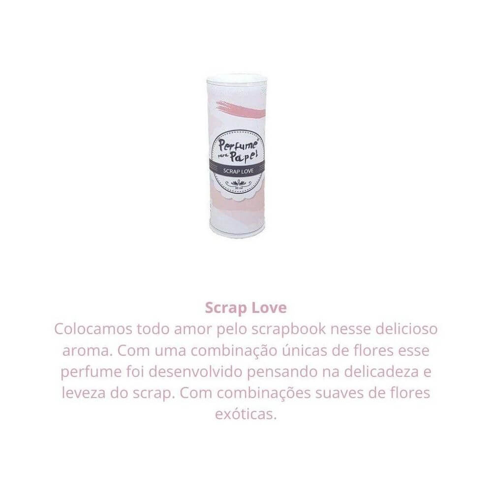 Perfume para papel - aroma scrap love - 30 ml