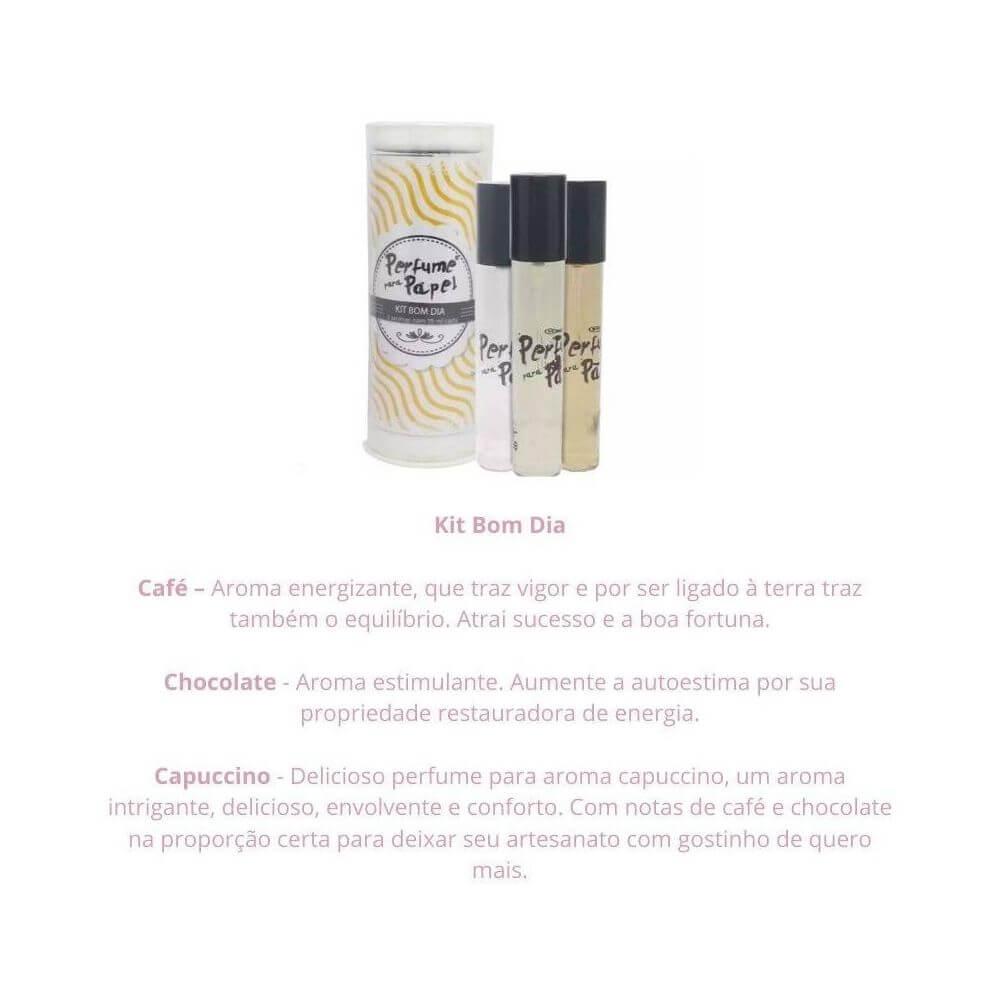 Perfume para papel - kit bom dia com 3 aromas de 15 ml
