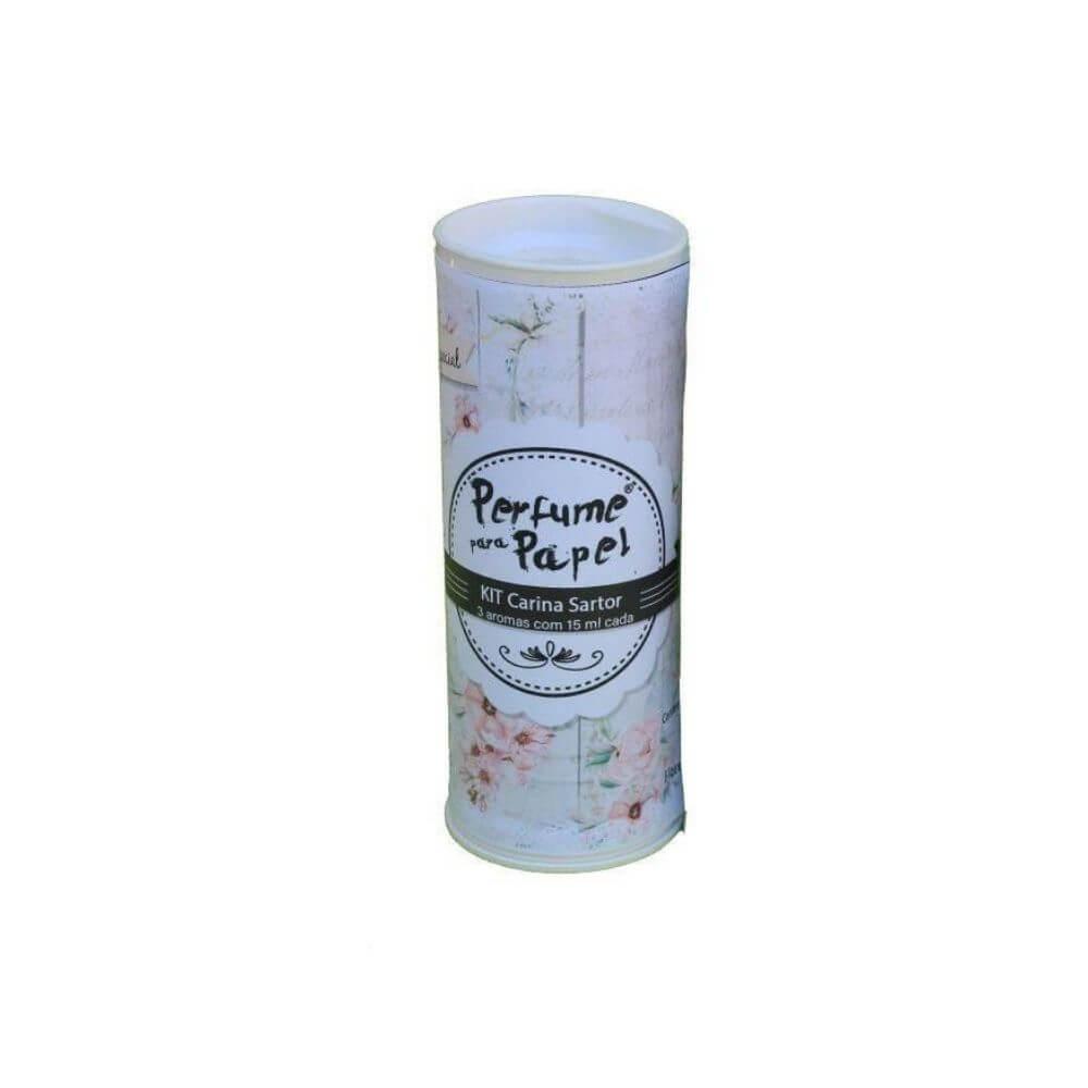 Perfume para papel - kit carina sartor com 3 aromas de 15 ml