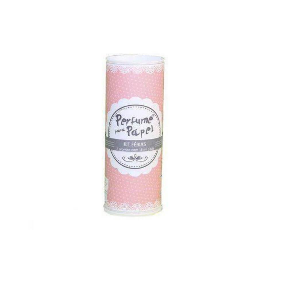 Perfume para papel - kit férias com 3 aromas de 15 ml