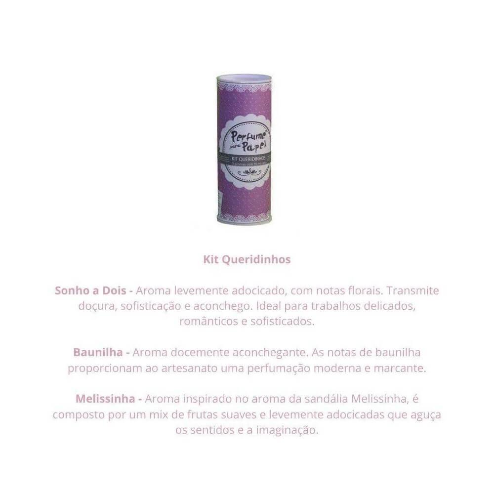 Perfume para papel - kit queridinhos com 3 aromas de 15 ml