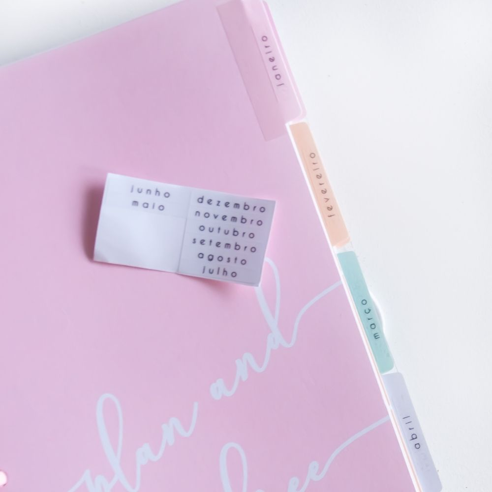Planner anual minimalista (pink)