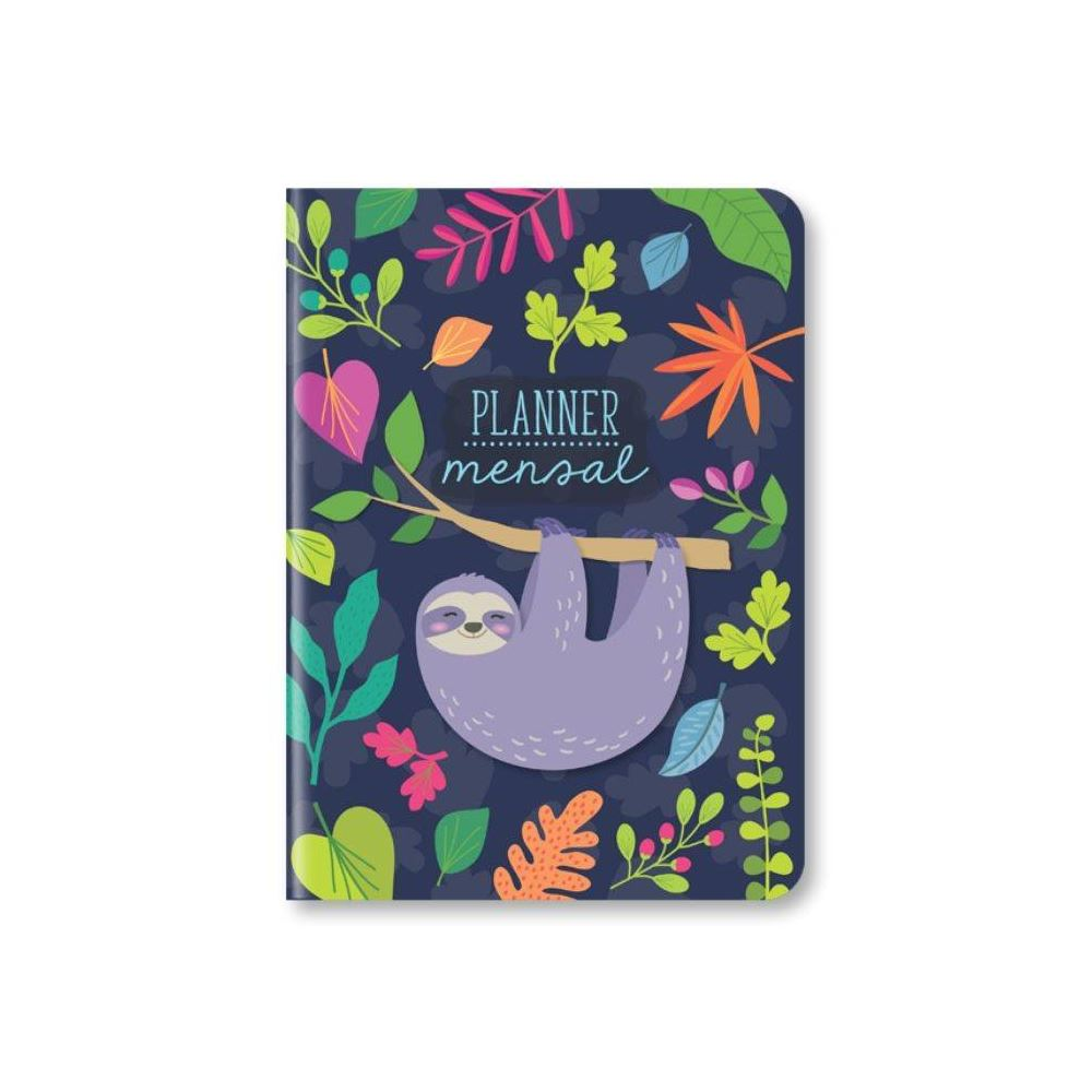 Planner mensal bicho-preguiça