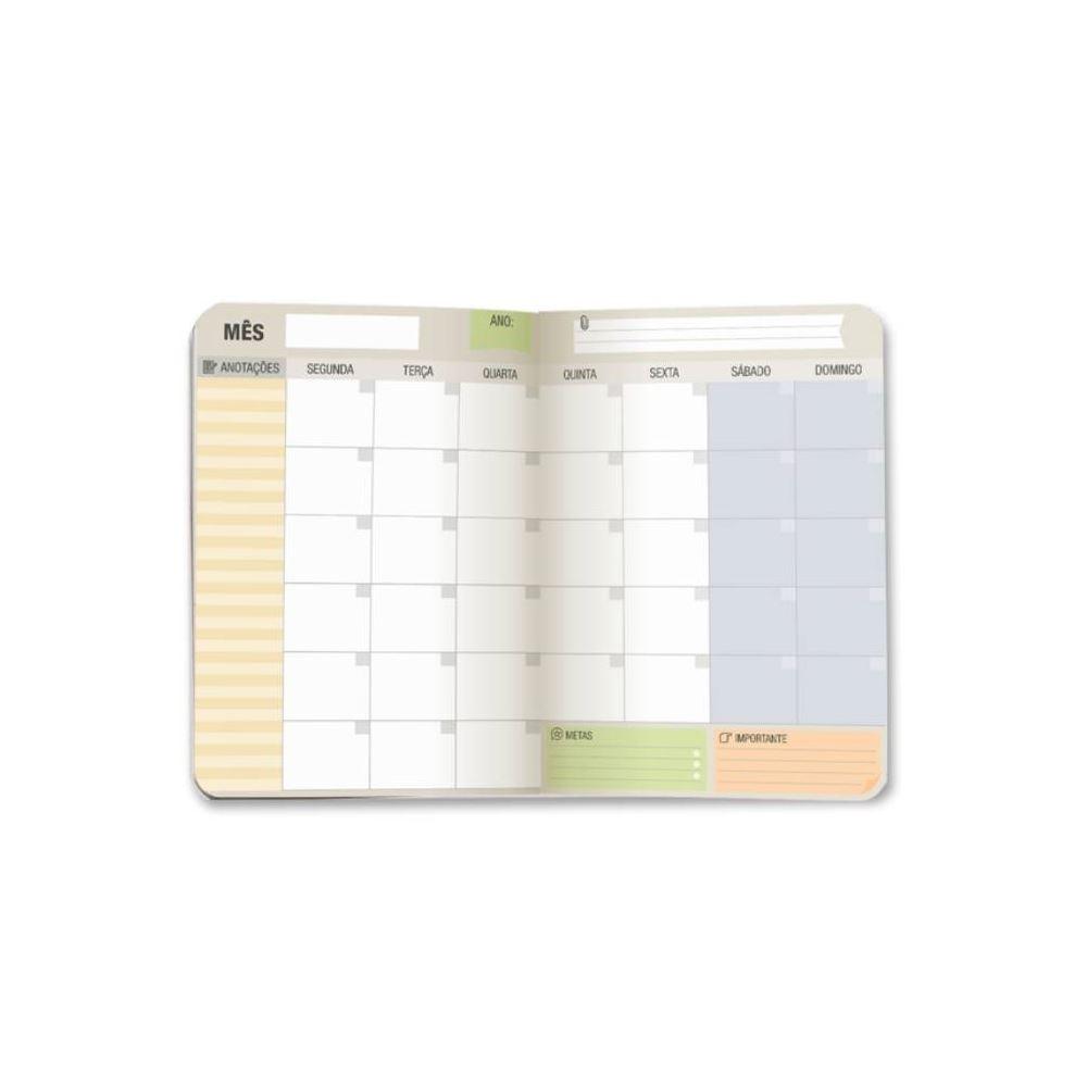 Planner mensal preto e branco
