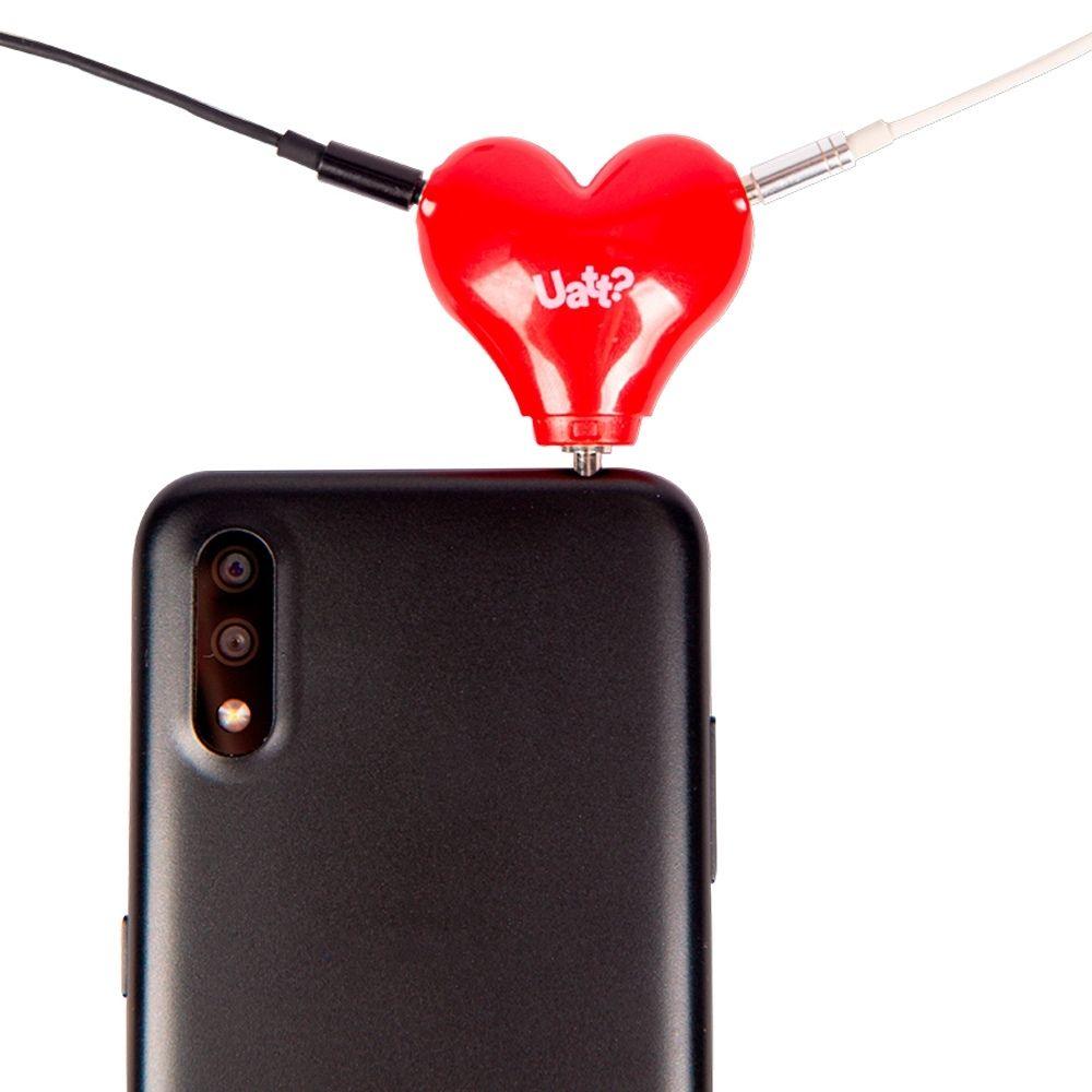 Plug para 2 fones coração - Power solar