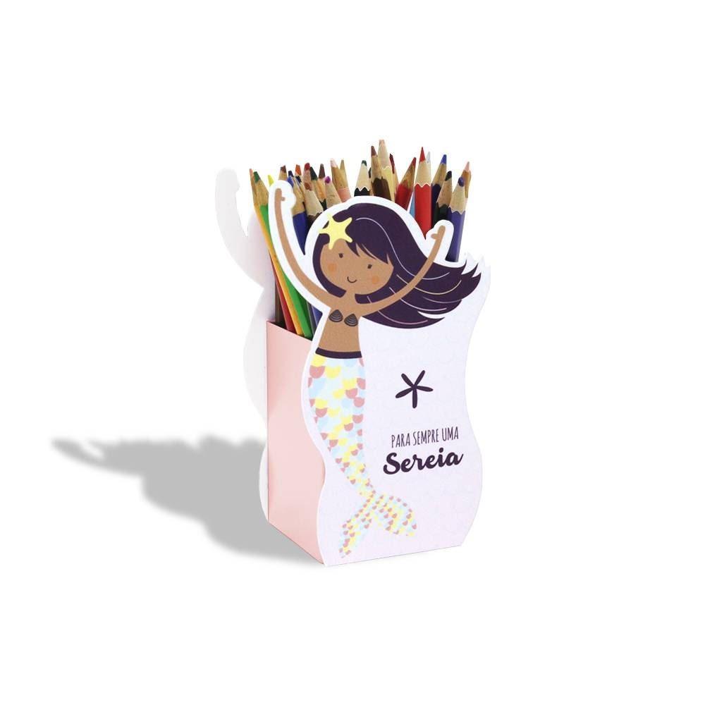 Porta-lápis sereia