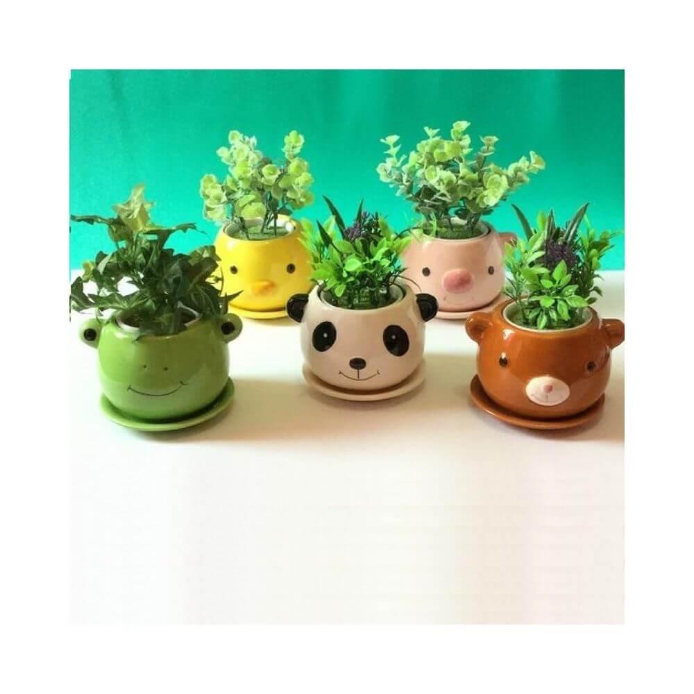 Vasinho de cerâmica cute