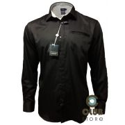 Camisa Arrow USA - Slim Fit Casual Preta