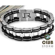 Pulseira Bracelete Aço Inox