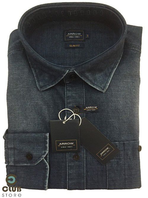 Camisa ARROW USA Slim Fit - Jeans